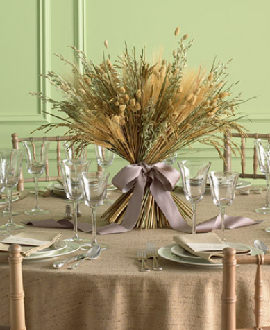 Centerpieces wheat straw bouquet 2 of 2 for Wheat centerpieces