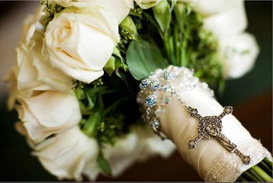 rosary bouquet