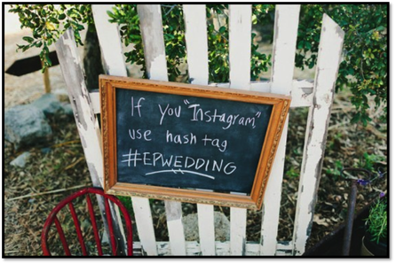Tech savvy wedding