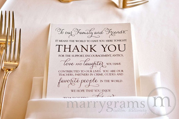 After Wedding Thank You Messages: Thank You: Make Your Guests Smile