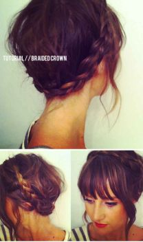 Braided-Crown-for-Short-Hair