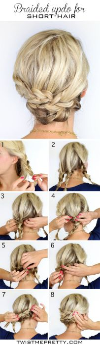 Braided-Updo-Hairstyle-for-Short-Hair