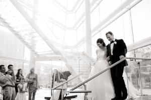MMoCA's stunning glass lobby