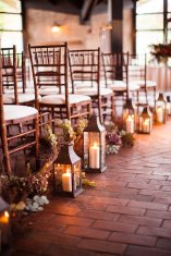Romantic lanterns add light to your fall ceremony