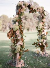 Fall-inspired wedding arches