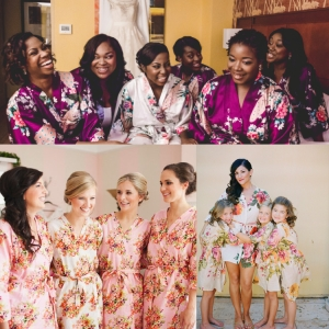 bridesmaids robes collage