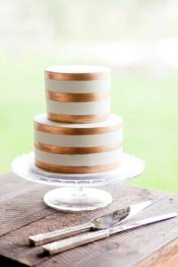 metallic cake 1