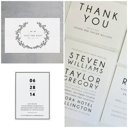 minimalist invite collage