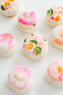 watercolor macroons